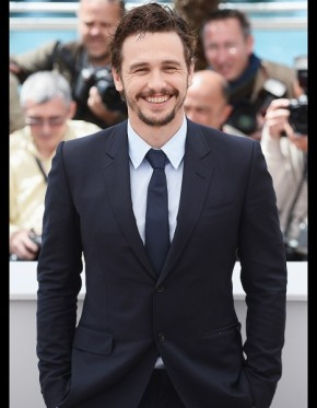 US actor James Franco knows how to wear a suit and give a smile.