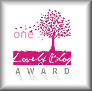 We've been awarded the  One Lovely Blog award