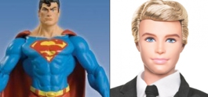Most boys are either Superman nor Ken. And at times, boys who look like Ken want to be Superman and vice versa.